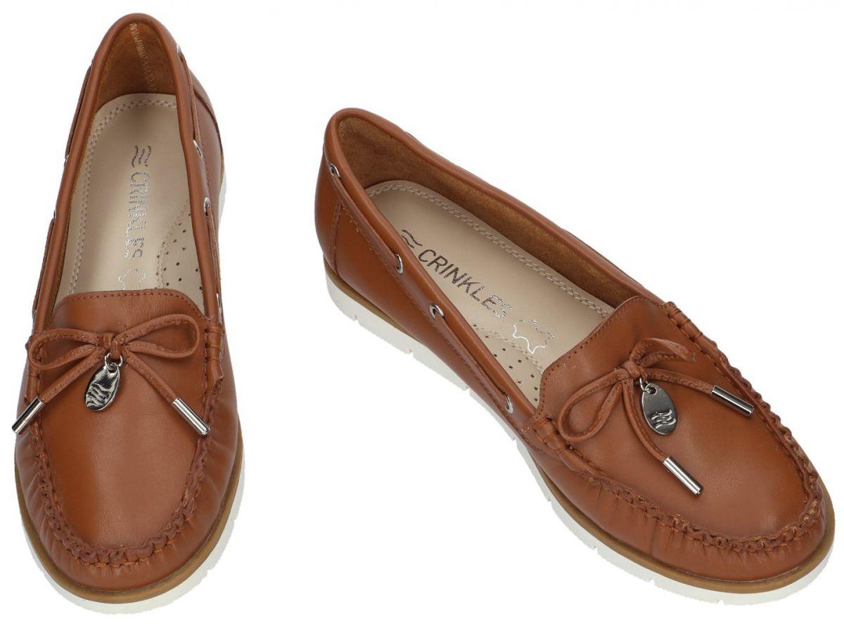 f2feff180ec Crinkles 161.C42-04 mocassins - loafers cognac/caramel - schoenen ...