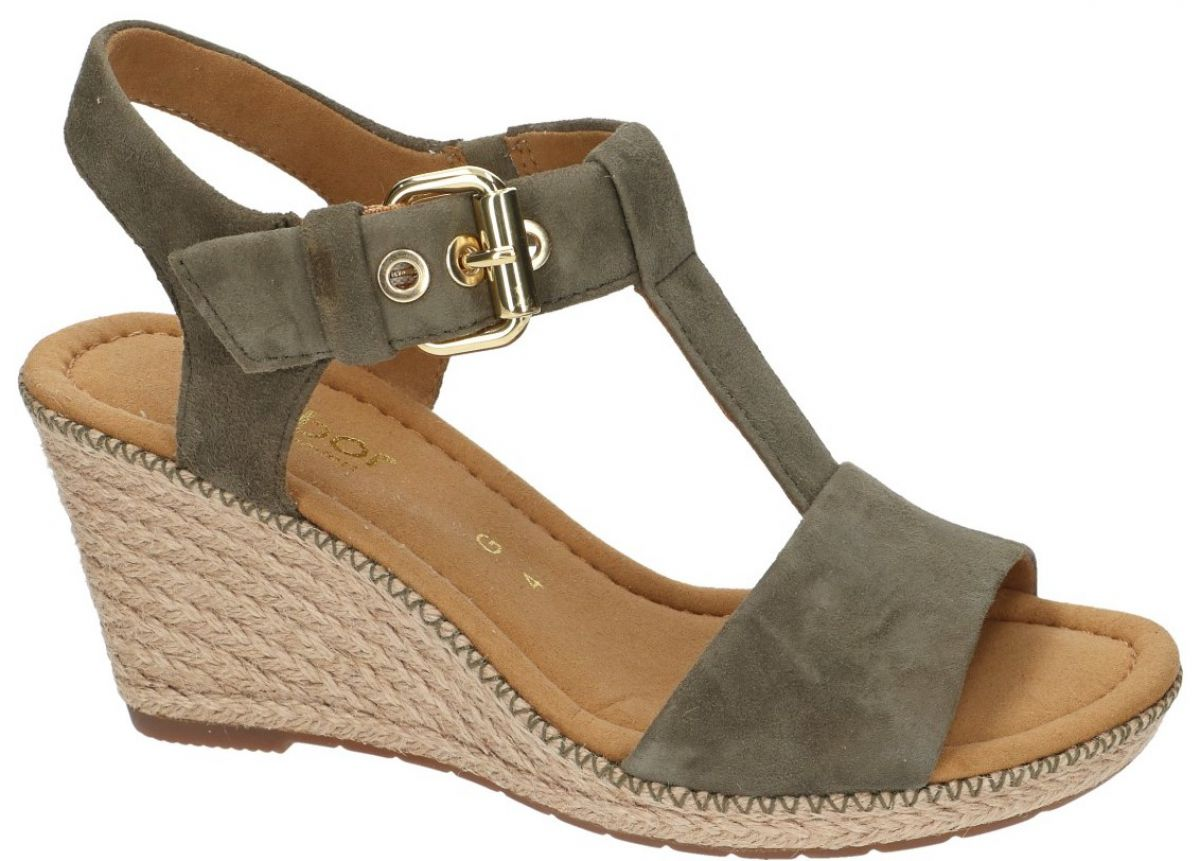 6fbf3741e Gabor 82.824.34 sandalen groen olijf - schoenen   Schoenen Karo
